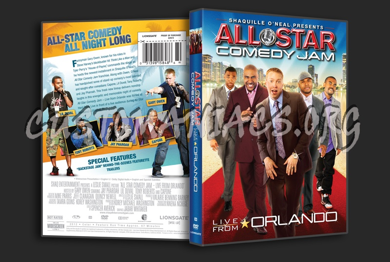 Shaquille O'Neal Presents Allstar Comedy Jam Live From Orlando dvd cover