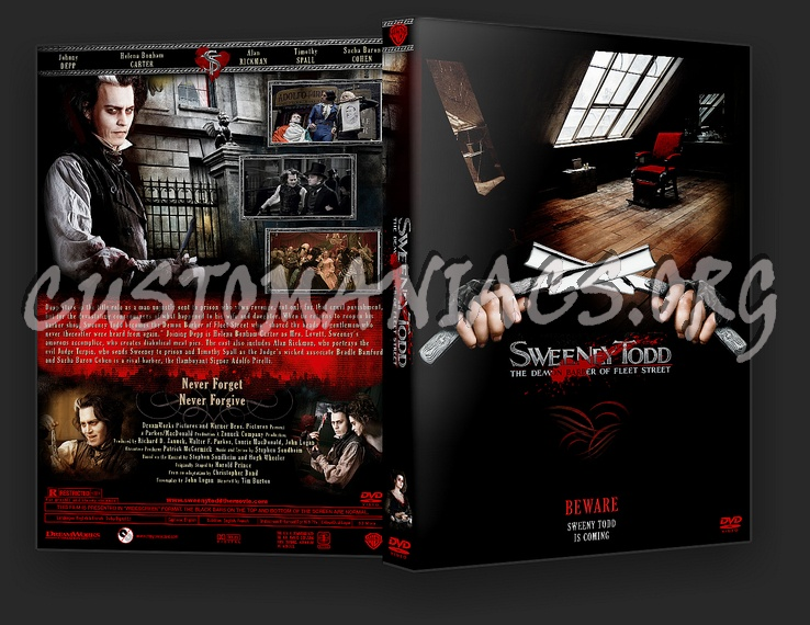 Sweeney Todd dvd cover