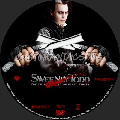 Sweeney Todd dvd label