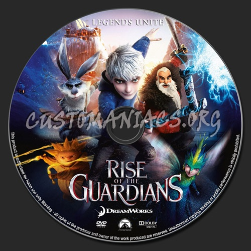 Rise Of The Guardians dvd label