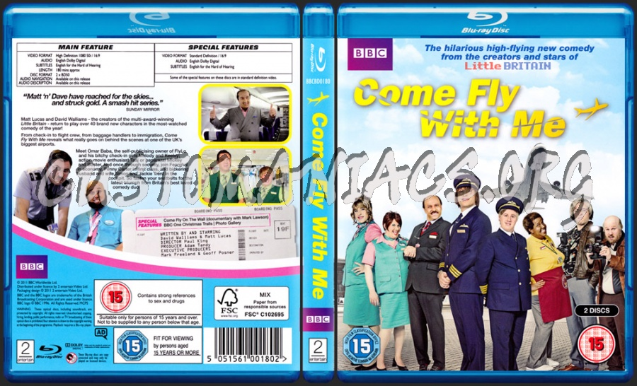 Come fly with me blu-ray cover