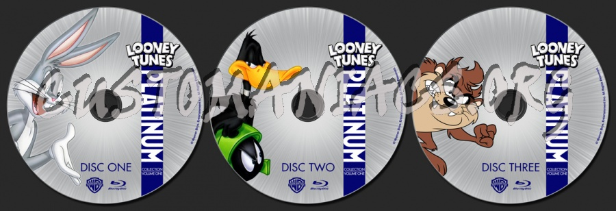 The Looney Tunes Platinum Collection Vol 1 blu-ray label