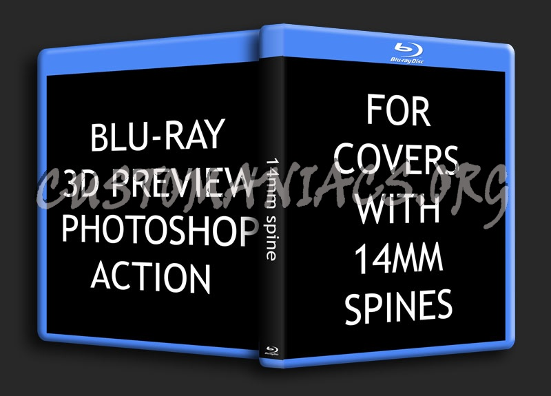 Blu-ray 3D Preview 14mm Spine Photoshop Action File