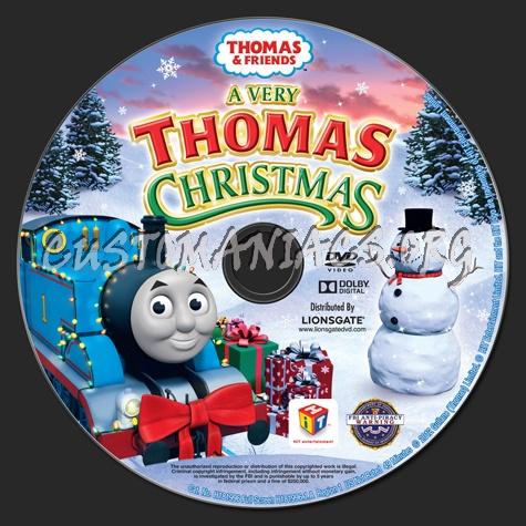 thomas friends a very thomas christmas dvd label