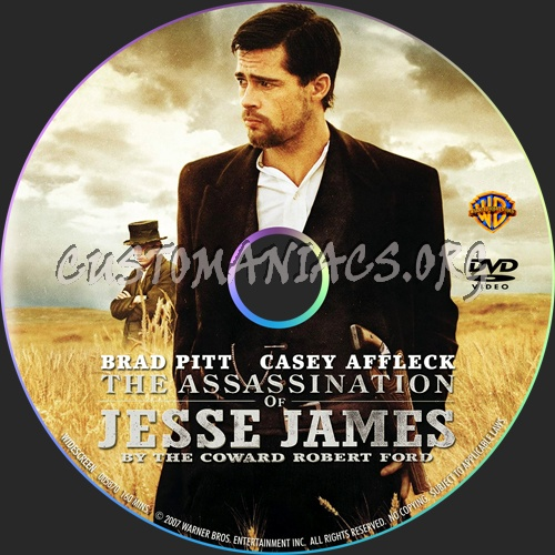 The Assassination of Jesse James by the Coward Robert Ford dvd label