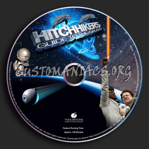The Hitchhiker's Guide to the Galaxy dvd label
