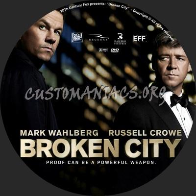 Broken City dvd label