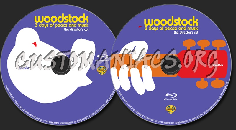 Woodstock blu-ray label