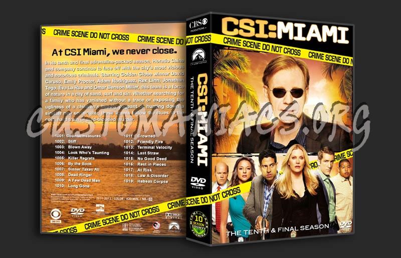 CSI: Miami - Season 10 dvd cover