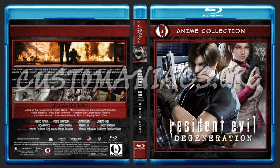 Anime Collection Resident Evil Degeneration blu-ray cover