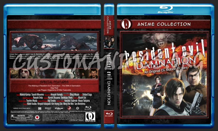Anime Collection Resident Evil Damnation blu-ray cover