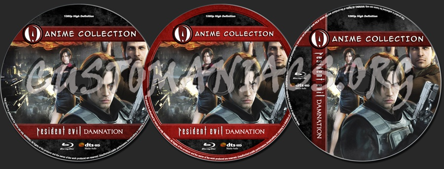 Anime Collection Resident Evil Damnation Blu Ray Label Dvd Covers Labels By Customaniacs Id 178906 Free Download Highres Blu Ray Label