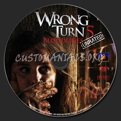 Wrong Turn 5 dvd label