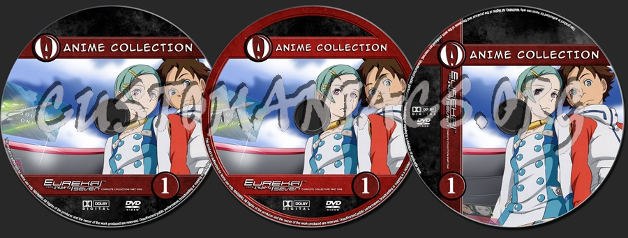 Anime Collection Eureka Seven Complete Collection Part One dvd label