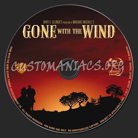 Gone With The Wind blu-ray label