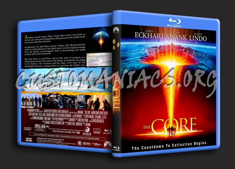 The Core blu-ray cover