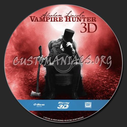 Abraham Lincoln: Vampire Hunter 3D blu-ray label