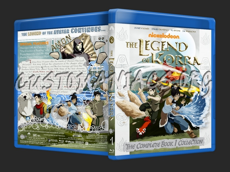 The Legend of Korra Season 1 blu-ray cover