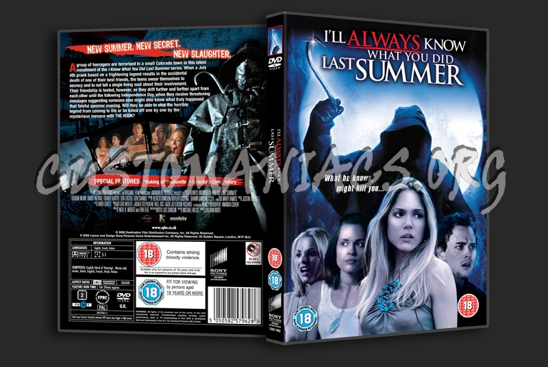 I'll Always Know What You Did Last Summer dvd cover