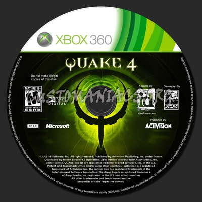 Quake 4 dvd label - DVD Covers & Labels by Customaniacs, id