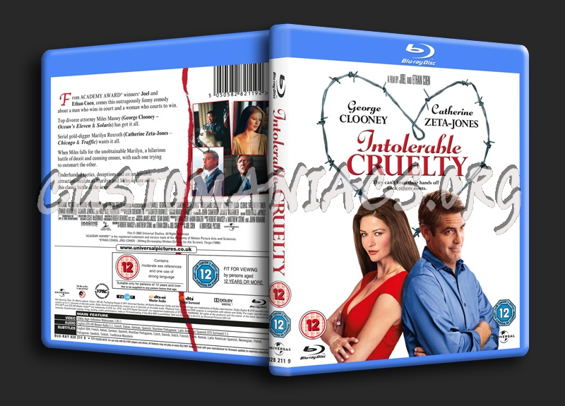 Intolerable cruelty blu-ray cover dvd covers & labels by.