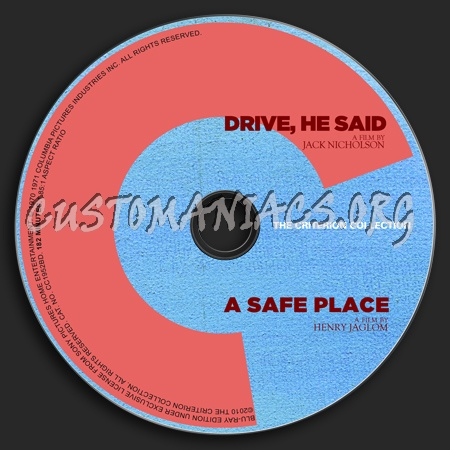 547 - 548 - Drive He Said - A Safe Place dvd label