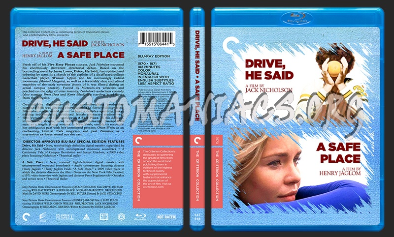 547 - 548 - Drive He Said - A Safe Place blu-ray cover