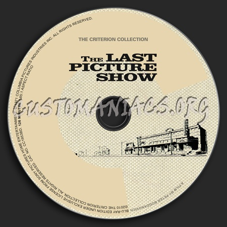 549 - The Last Picture Show dvd label