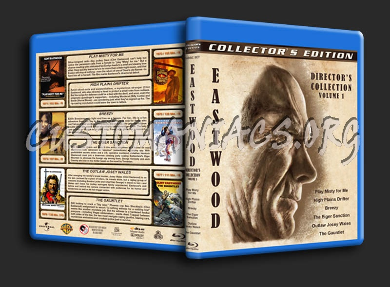 Clint Eastwood: Director's Collection - Volume 1 blu-ray cover