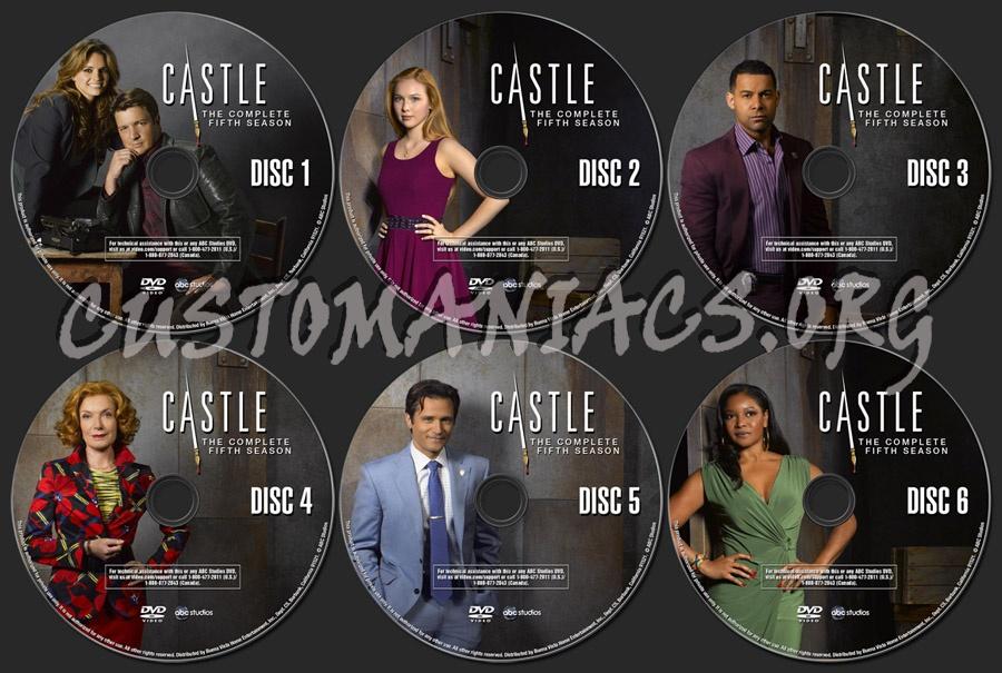 Castle Season 5 Dvd Label