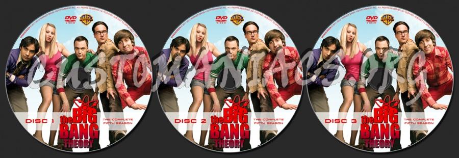 The Big Bang Theory Season 5 dvd label