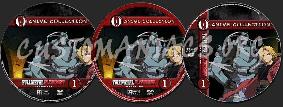 Anime Collection Full Metal Alchemist Season 2 dvd label