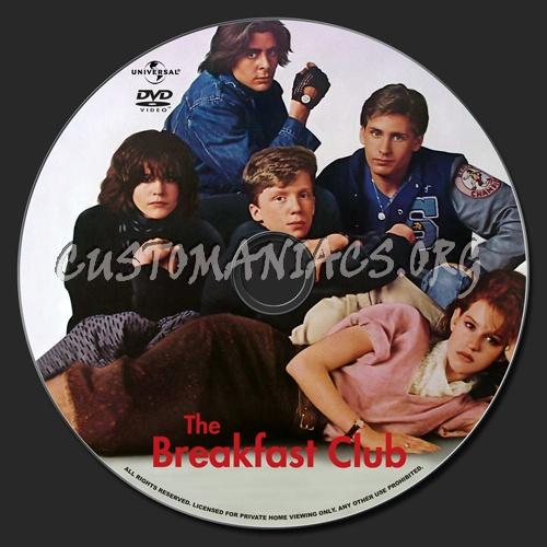 The Breakfast Club dvd label