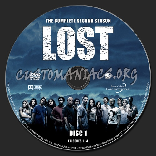 Lost Season 2 dvd label - DVD Covers & Labels by Customaniacs, id