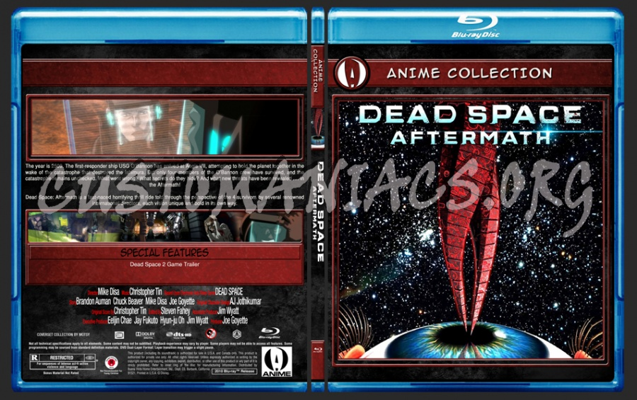 Anime Collection Dead Space Aftermath Blu Ray Cover Dvd Covers