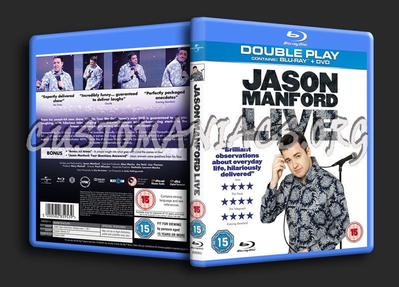 Jason Manford Live blu-ray cover