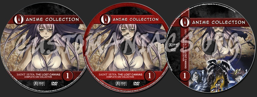 Anime Collection Saint Seiya Lost Canvas Complete OAV Collection dvd label