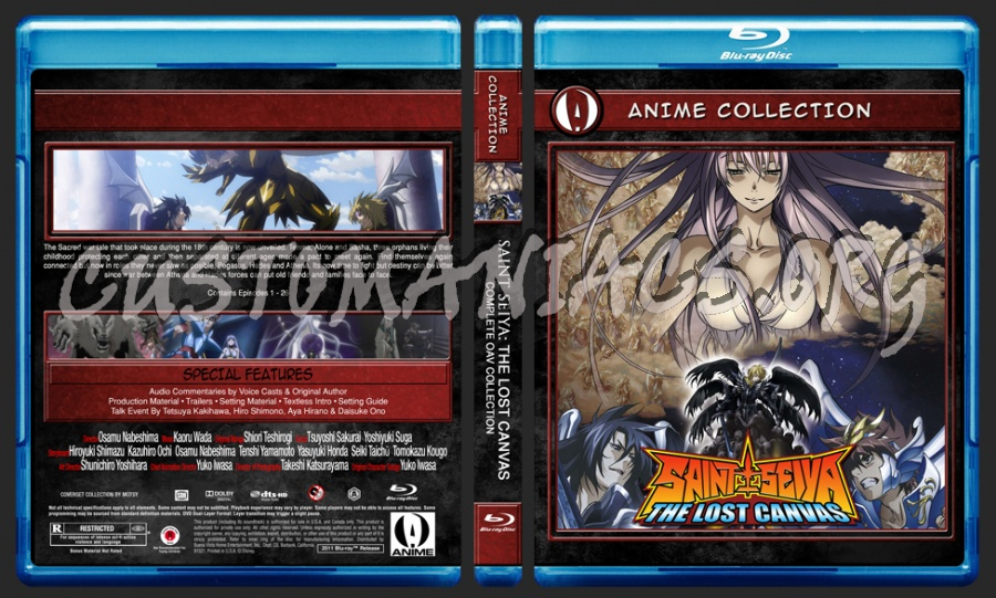 Anime Collection Saint Seiya The Lost Canvas Complete OAV Collection blu-ray cover