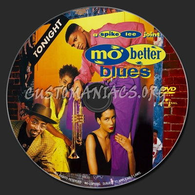 Mo' Better Blues (1990) dvd label