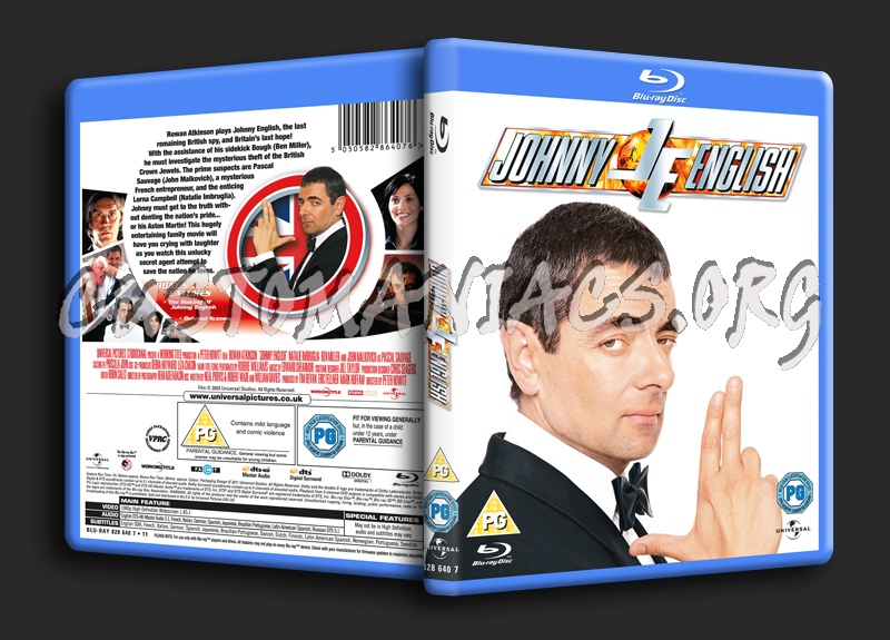 Johnny English blu-ray cover