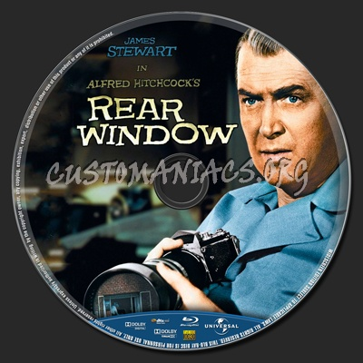 Rear window 1954 blu ray label dvd covers labels by for 1954 rear window