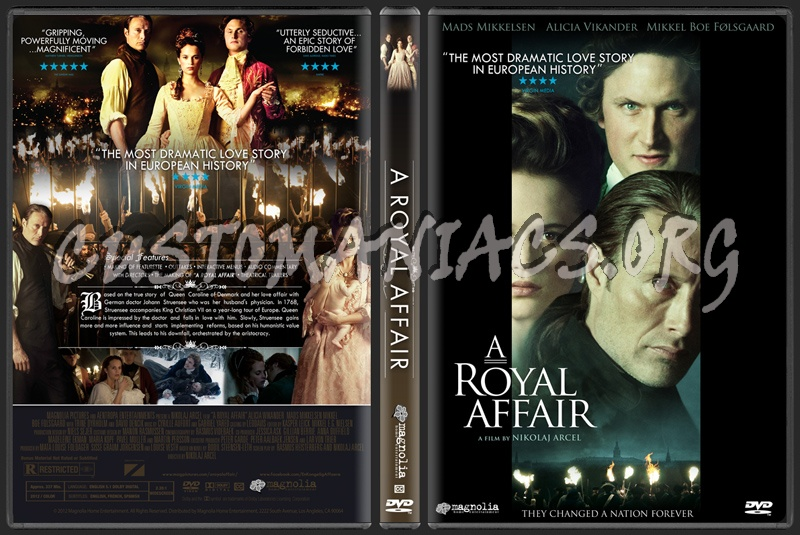 A Royal Affair (aka En kongelig affære) dvd cover