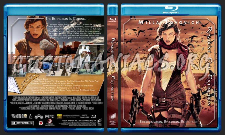 Resident Evil Extinction blu-ray cover