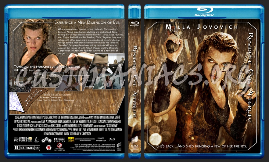 Resident Evil Afterlife blu-ray cover