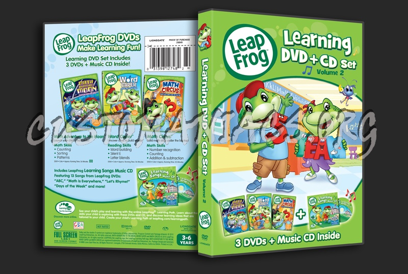 Leapfrog A Tad Of Christmas Cheer Dvd.Leap Frog Learning Dvd Volume 2 Dvd Cover Dvd Covers