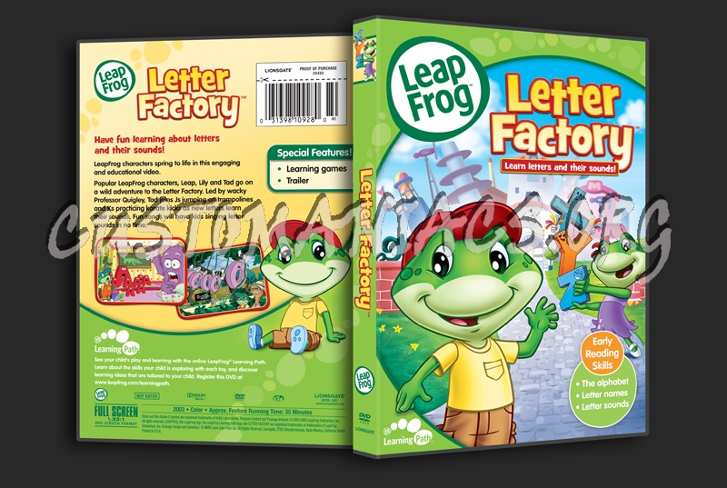 leapfrog letter factory dvd leap frog letter factory dvd cover dvd covers amp labels 22719