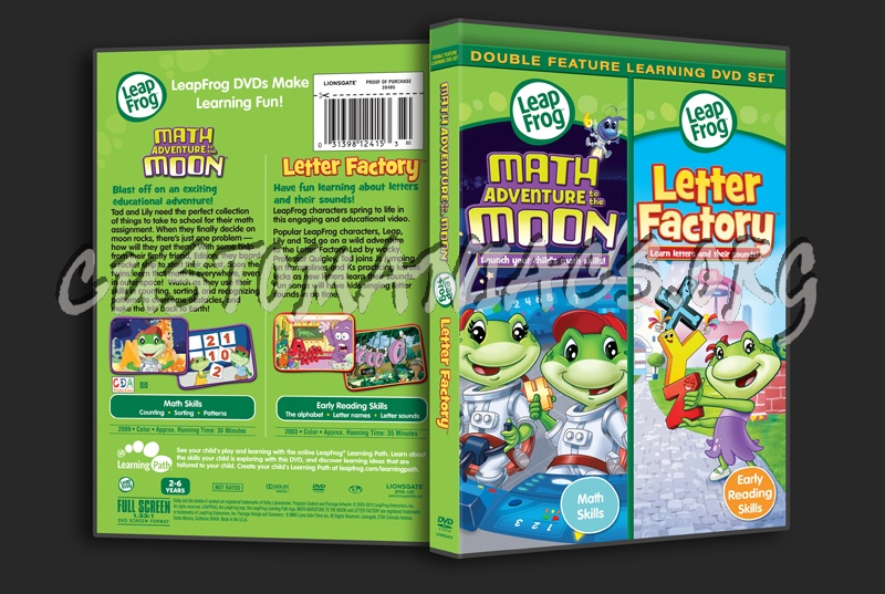 leap frog math adventure to the moon letter factory dvd cover