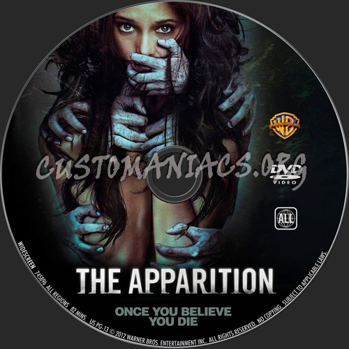 The Apparition dvd label