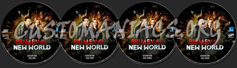 Primeval New World Season One dvd label