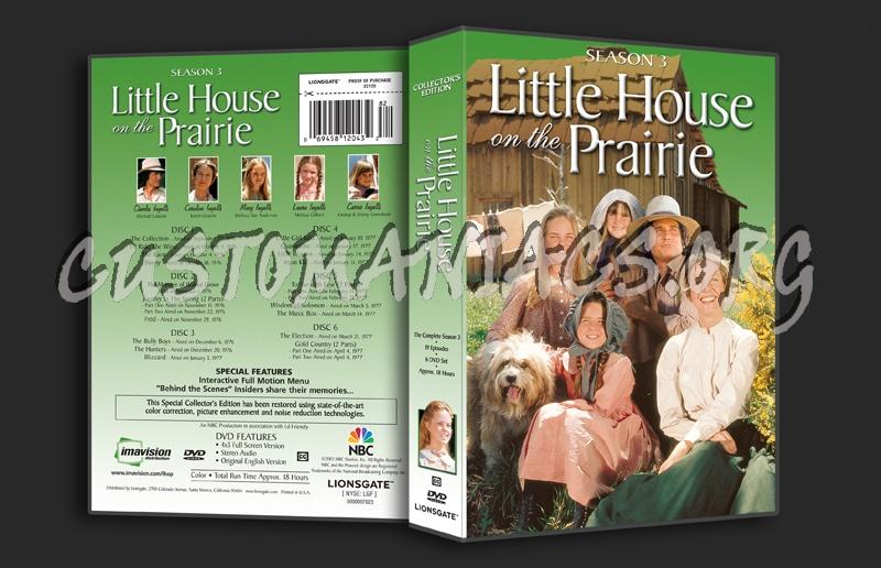Little House on the Prairie Season 3 dvd cover